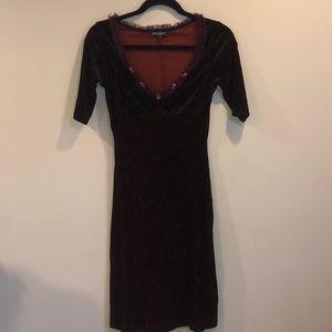 Betsy Johnson Midnight Velvet Empire Dress Sz P